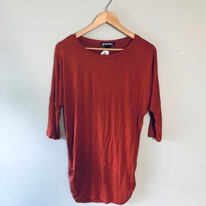 New, ruched 1/2 sleeve top